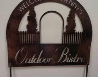 Custom metal Outdoor Bistro sign