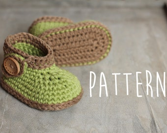 """Baby Crochet Pattern, Green """"Nature Boot"""", green leaf, crochet boots, pattern for crochet booties PATTERN ONLY"""