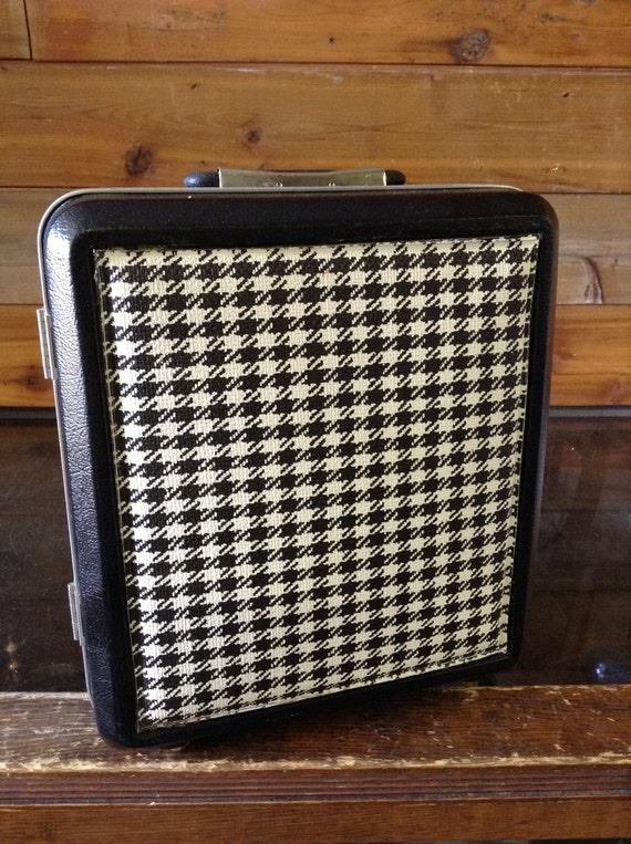 Vintage portable bar luggage suitcase black case with black - Mobile bar vintage ...