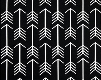 Black Arrow Fabric by the YARD geometric upholstery home decor Premier Prints curtains pillows runners  SHIPS FAST