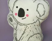 KOALA Softie / Block Printed Toy / Cushion / Australiana