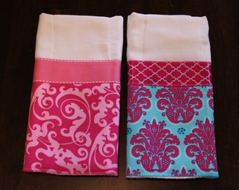 Custom baby burp cloths (set of 2)