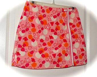 Lilly Pulitzer Pink Bocci Ladybugs Skort Sz 2