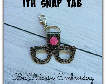 Geek Glasses ITH Snap Tab - 4x4 Embroidery Design - INSTANT DOWNLOAD