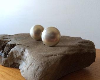 Vintage pearl & sterling silver earrings