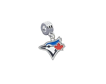 Toronto Blue Jays Baseball European Charm for Bracelet, Necklace, & DIY Jewelry