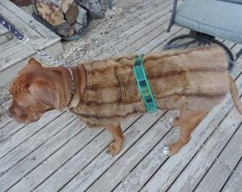 Vintage Fur, Fur Dog Coat, Tartan and Fur, Dog Jacket
