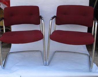 1960's Milo Baughman-Style Chrome Chairs