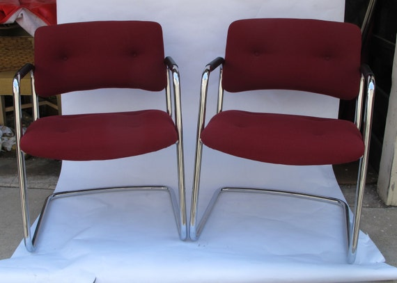 1960 39 s milo baughman style chrome chairs for Sixties style chairs