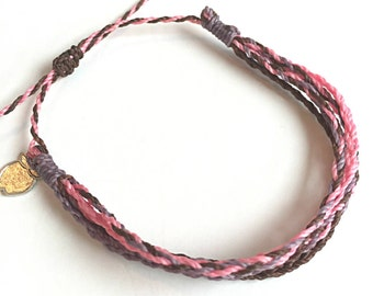 "Fair Trade Adjustable Friendship Bracelet, Supports Women and Children, ""Rose Garden"""