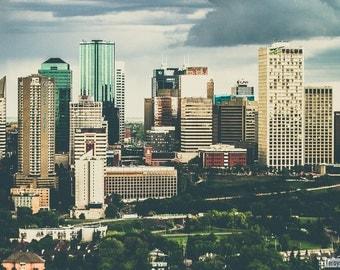 Edmonton - City of Lines, Fine Art Print