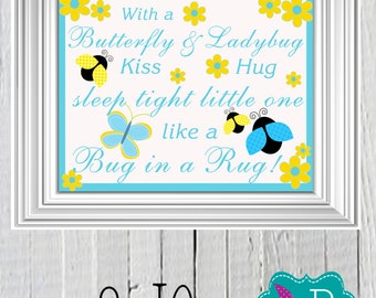 Butterflies & Ladybugs Printable Wall Art 8x10