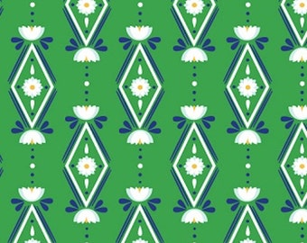 Diamonds Are Forever Green Fabric