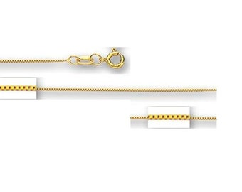 """10kt yellow gold box link chain necklace pendant chain 16"""",16"""",20"""",22"""",24""""(WHOLESALE PRICE)"""