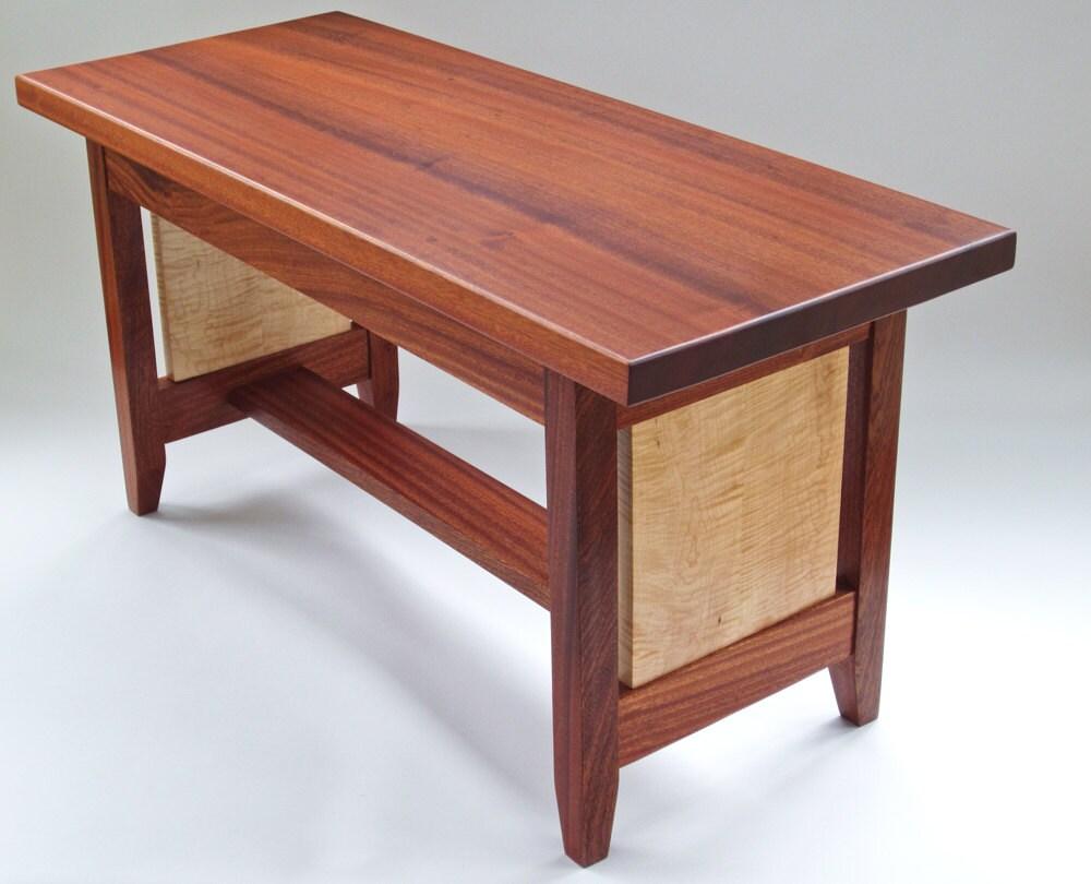 Kiara Bench Coffee Table In Sapele Wood