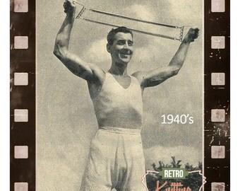 1940s Man's Vest and Pants  Vintage Knitting Pattern - PDF  Instant Download