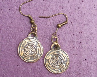 Hekate's Wheel, Bronze Earrings, Hekate, Hecate, Strophalos, Spiritual, Wicca, Wiccan, Witch, Pagan, by the Green Man