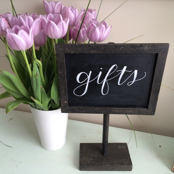 Wedding Gift Table: Items Similar To Chalkboard Sign / Customized Sign / Gift