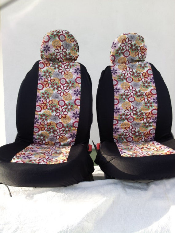 pair of car front seat covers summer fun summer of love. Black Bedroom Furniture Sets. Home Design Ideas