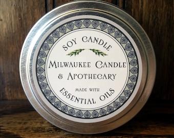 Eucalyptus Mint Soy Candle - 6 Ounce Tin