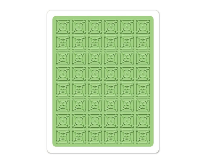 New! Sizzix Textured Impressions Embossing Folder - Starlight by Eileen Hull
