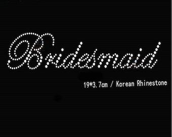 Bridesmaid Rhinestone Transfer