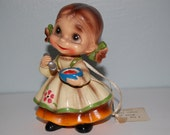 "Elf Girl Figurine ~ Josef Originals ~  Wee Folks ~  ""I Try To Eat With Dainty Manners"""