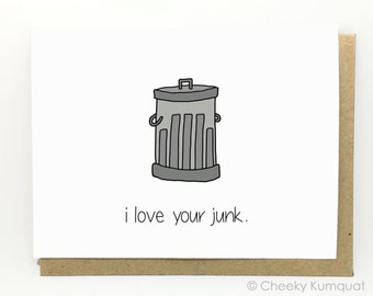 Funny Valentine's Day Card - Funny Love Card - Suggestive Card - Card for Boyfriend - Card for Husband - Junk.