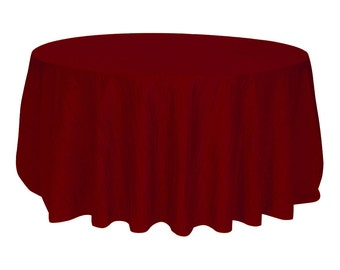 YCC Linen   120 Inch Burgundy Crinkle Taffeta Round Tablecloth | Wedding  Tablecloth