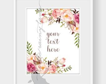 Custom Quote Print, Custom Typography Print-  Printable Custom art - Personalized Poster Personalized quote custom quote