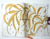bamboo leaf design for this colourful Journal or Notebook with lined pages