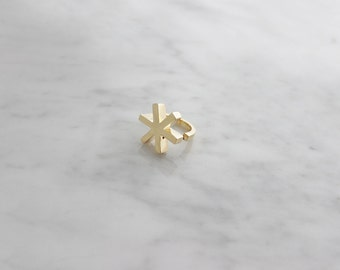 Asterisk Ring Gold , Statement Ring , 247 by GOOD AFTER NINE