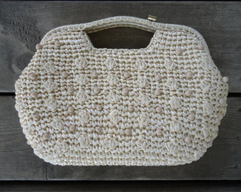 Vintage Straw Hand Bag/Purse