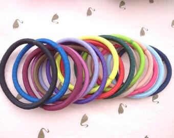 Sale--50 pcs mixed color hair elastics, ponytail elastics,ponytail holders,pigtail holders