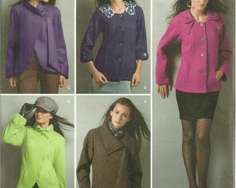 Simplicity 2504 Sewing Pattern, Misses Jacket with Collar, Front and Sleeve Variations, Multi-Sized 8, 10, 12, 14, 16, Uncut