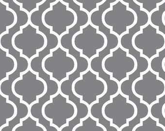 Charcoal Trellis Cuddle Minky Print by Shannon Fabrics