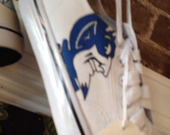Hand painted Duke University Converse Shoes