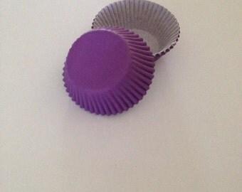 Mini Purple Cupcake Liners