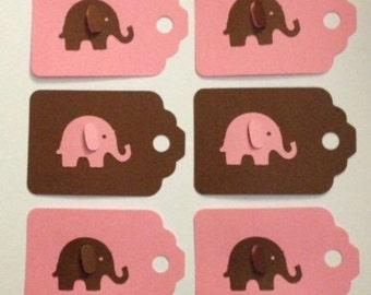 Elephant Safari Party Tags
