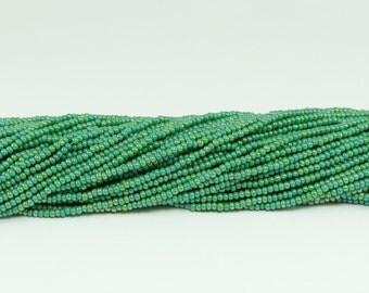 Czech Seed Beads, IRIS, Size 11/0, Green