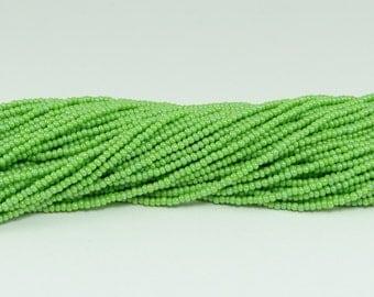 Czech Seed Beads, IRIS, Size 11/0, Avocado