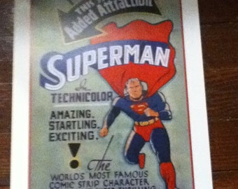 1941 superman movie poster 1st movie cartoon-technicolor