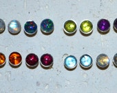 Titanium Stud 5 mm Stone Earrings - Choose a stone!  Genuine gemstones, completely nickel free and hypoallergenic.