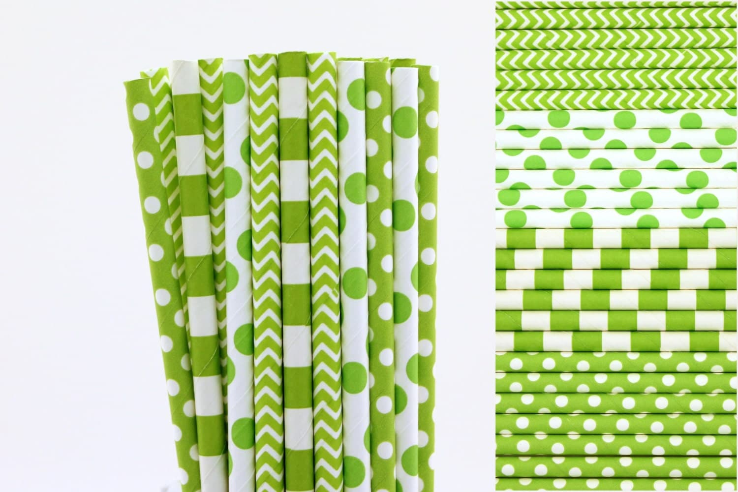 green paper straws Our paper drinking straws are eco- friendly, exciting and add an eccentric touch to any type of classic or modern food presentation our services 3 step to custom your amazing straws with your own brand.