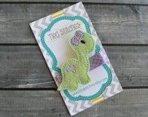 Dinosaur hair clip - Dino Hair clip - Feltie hair clip - Clippy - felt hair clip