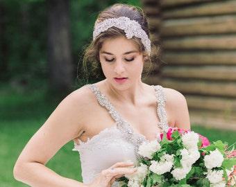 Vintage inspired bridal headband - Style H48