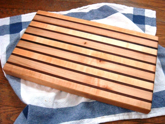 Unique Hand Crafted Wooden Cutting Board Walnut Maple