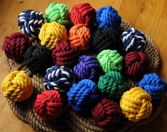 Cotton Knots - Nautical Decor - Smaller Knots - Nautical Rope Knots - Sailing Decor - Smaller Wedding Knots - (This is per knot)