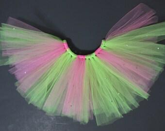 Apple Green and Shocking Pink Blinged Tutu