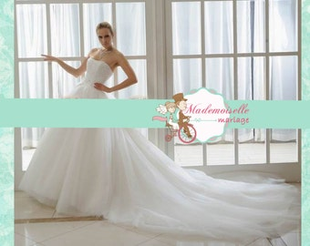 full beading bust wedding dress with big train High Quality Princess ball gown custom made